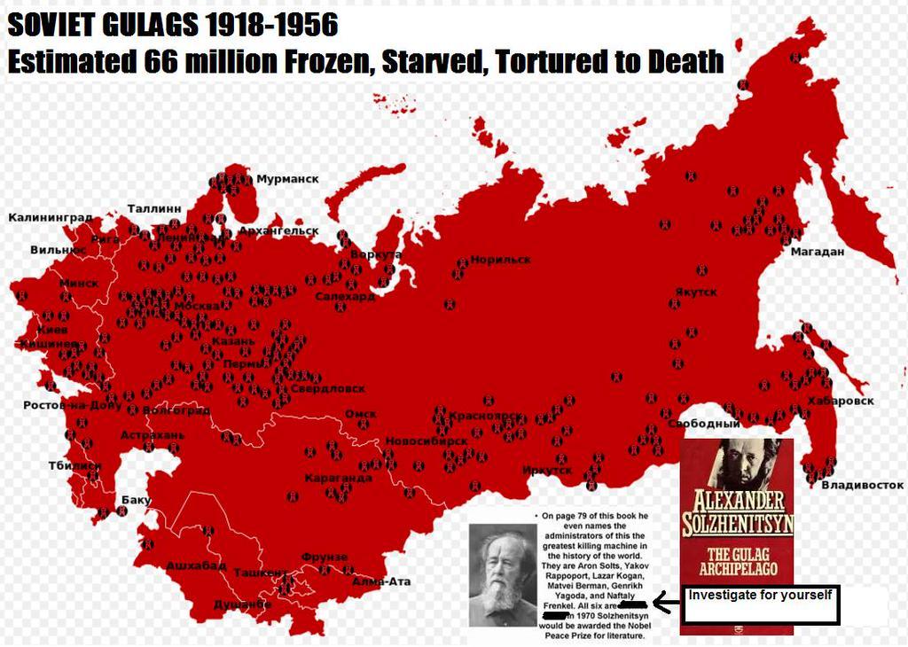 soviet gulag map