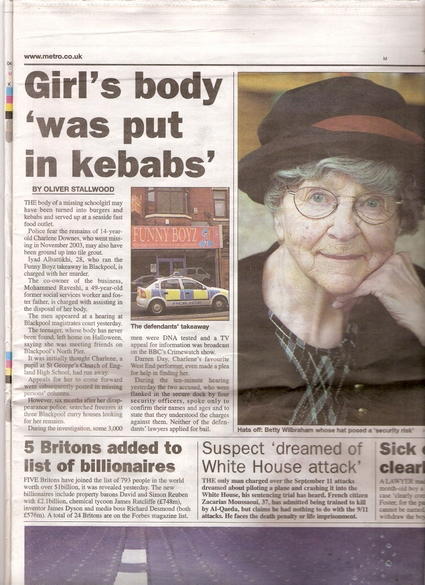 14 years old girl was gang-raped and beaten to death, and her flash put in kebab to be sold as food in Britain – WHERE IS EQUALITY?